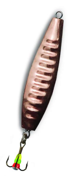 Блесна зимняя SWD DIJ 012 (42мм, вес 7г, 2 коронки Блесны<br>Зимняя вертикальная паянная блесна с 2-мя <br>коронками (с одной стороны никель, с другой <br>медь). Предназначена для отвесного блеснения. <br>Длина 42мм, вес 7г. Оснащена тройником №10 <br>со светонакопительной каплей. Упакована <br>в блистер.<br>