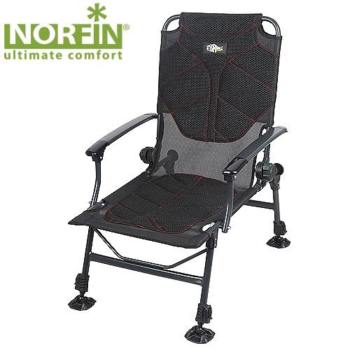 Кресло карповое Norfin Manchester NfСтулья, кресла<br>Складное кресло - прекрасный выбор для <br>ценящих комфорт рыбаков. Влагостойкий, <br>дышащий матрас создает комфорт в любую <br>погоду. Регулируемый наклон спинки, ножки <br>с возможностью регулировки высоты и широкими <br>опорами, которые не дадут провалиться в <br>песок или грунт. Особенности: - стальной <br>каркас 25 мм; - размеры 55х52х32/97 см; - нагрузка <br>140 кг; - размеры в сложенном виде 80х21х65 см.<br><br>Сезон: лето<br>Цвет: черный<br>Материал: polyester mesh and dura mesh
