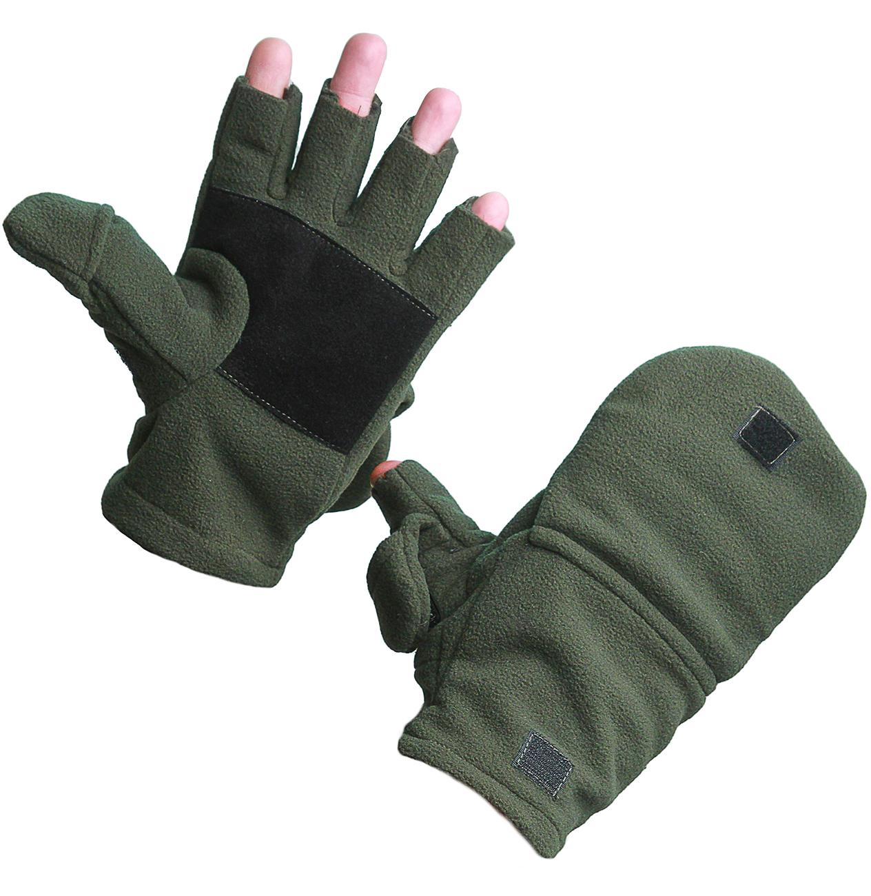 Перчатки/варежки УРСУС ткань флис (Неизвестная Перчатки-варежки<br><br><br>Пол: мужской<br>Сезон: зима<br>Цвет: зеленый