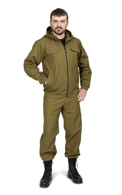 Костюм мужской Скаут (палатка, хаки), бренд Костюмы неутепленные<br>«Скаут» летний универсальный костюм (ТМ <br>«Квест»). Удобство и практичность – вот <br>девиз этого костюма. Действительно в нем <br>есть все, что нужно для хорошего костюма: <br>короткая куртка с капюшоном, рукава собранные <br>на манжету, прямые брюки на резинке с утяжкой. <br>Никаких специальных, дополнительных функций <br>- только самый необходимый минимум и запатентованная <br>надежность от Novatex. В этом костюме есть что-то <br>от старой доброй стройотрядовской штормовки. <br>Отличное сочетание цены и качества!<br><br>Пол: мужской<br>Сезон: лето<br>Цвет: оливковый<br>Материал: хлопок