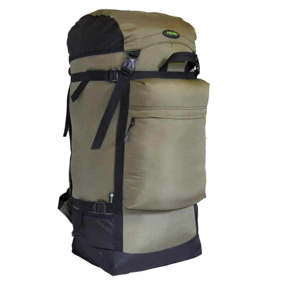 Рюкзак Михалыч PRIVAL 110л (хаки)Рюкзаки<br>Универсальный, легкий и объемный рюкзак. <br>Прекрасный выбор для любителей охоты, рыбалки <br>или начинающих путешественников. Минимальный <br>вес, регулируемый клапан, две ручки для <br>транспортировки, большой фронтальный карман <br>и боковые кармашки для длинномерных предметов <br>дополнят комфорт при эксплуатации. Регулировка <br>подвесной системы максимально проста, а <br>широкий поясной ремень фиксируется на бедрах, <br>распределяя до 80 процентов нагрузки. Компрессионные <br>стяжки по бокам позволяют регулировать <br>объем. Назначение: Туризм, рыбалка, охота <br>Число лямок: 2 Тип конструкции: Мягкий Грудная <br>стяжка: Есть Поясной ремень: Есть Боковая <br>стяжка: Нет Клапан: Есть; съемный; без кармана <br>Ткань: Poly Oxford 600D PU RipStop; Polyester 1000D Объём, л: <br>110 Фурнитура: ABS пластик; застежка молния <br>№ 10 Вес, кг: 1,2 Цвет: Хаки<br><br>Пол: унисекс