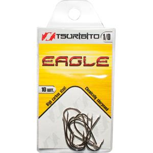 Крючки рыболовные Tsuribito Eagle №4 (в упак. 10шт.) Одноподдевные<br><br>