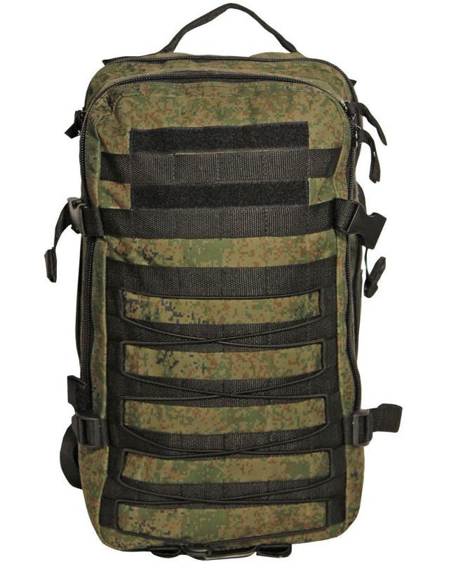 Рюкзак тактический Woodland ARMADA - 1, 30 л (цифра)Рюкзаки<br>Тактические рюкзаки идеально подойдут <br>для охоты и рыбалки, туристических путешествий, <br>походов. Рюкзаки изготовлены из высококачественной <br>ткани Oxford 600 с пропиткой для защиты от проникновения <br>влаги. Вместительность модели регулируется <br>компрессионными боковыми ремнями на фастексах. <br>Плотная спинка с мягкими вставками Airmesh <br>и длина плечевых ремней обеспечивают комфорт <br>и равномерное распределение нагрузки. Особенности: <br>- два вместительных отделения - компрессионные <br>утяжки по бокам и снизу - боковые карманы <br>- поясной ремень для распределения нагрузки. <br>Объем 30 л. Цвет: камуфляж цифра Материал: <br>полиэстер 100%<br><br>Пол: унисекс<br>Цвет: зеленый
