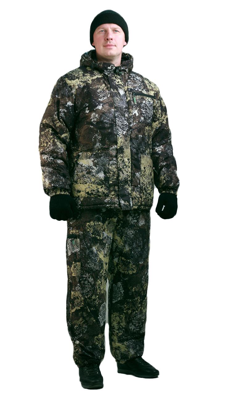 Костюм мужской Турист 1 зимний, кмф алова Костюмы утепленные<br>Камуфлированный унверсальный летний костюм <br>для охоты, рыбалки и активного отдыха . Состоит <br>из куртки с капюшоном и брюк. Куртка: • Регулируемый <br>капюшон. • Центральная застежка молния. <br>• Боковые и нагрудный прорезные карманы <br>на молнии. • Низ куртки и манжеты на резинке. <br>Брюки: • Два врезных кармана и два накладных <br>на молнии. • Пояс и низ брюк на резинке.<br><br>Пол: мужской<br>Размер: 56-58<br>Рост: 170-176<br>Сезон: демисезонный