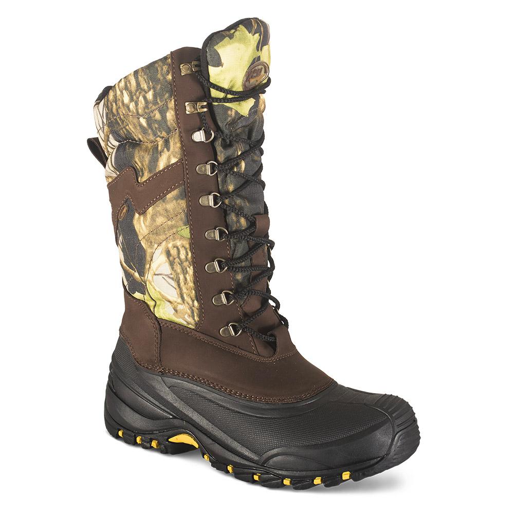 Сапоги ХСН зимние «Тундра» (утеплитель Подходит для активного отдыха, охоты и <br>рыбалки. Комфортная температура эксплуатации: <br>от +5°С до -20°С. Особенности: - ткань с водоотталкивающей <br>пропиткой; - износостойкий подклад обуви <br>Vellutino; - утеплитель Тинсулейт, который обеспечивает <br>отличную вентиляцию; - металлический супинатор; <br>- подошва повышенной износостойкости; - <br>при изготовлении применяются высокопрочные <br>нити Guterman (Германия).<br><br>Пол: мужской<br>Размер: 40<br>Сезон: зима<br>Цвет: камуфляжный