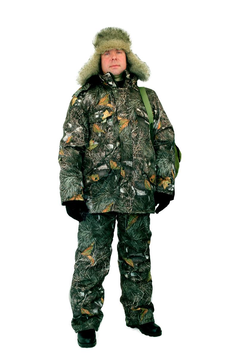 Костюм мужской Бобр демисезонный кмф Костюмы утепленные<br>Куртка и полукомбинезон для рыбалки и отдыха. <br>Куртка - усиление в области локтей. - с застежкой <br>на молнию, - ветрозащитная планка на кнопках <br>, - воротником-стойкой на флисе, - отстегивающимся <br>регулируемым капюшоном. - прорезные карманы <br>с клапонами. Полукомбинезон - с боковыми <br>карманами. - застёжка на молнию двухзамковую <br>- нагрудный карман.<br><br>Пол: мужской<br>Размер: 52-54<br>Рост: 182-188<br>Сезон: демисезонный<br>Цвет: зеленый