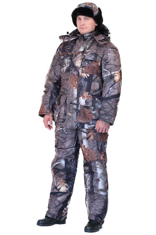 Костюм мужской Вепрь зимний кмф алова Костюмы утепленные<br>Камуфлированный универсальный костюм <br>для охоты, рыбалки и активного отдыха при <br>низких температурах. Состоит из удлиненной <br>куртки и полукомбинезона. Куртка: • Центральная <br>застежка на молнии с ветрозащитной планкой <br>на кнопках. • Отстегивающийся и регулируемый <br>капюшон. • Регулируемая кулиса по линии <br>талии. • Нижние и верхние многофункциональные <br>накладные карманы с клапанами на контактной <br>ленте и на молнии. • Усиление в области <br>локтей. • Трикотажные манжеты по низу рукавов. <br>Полукомбинезон: • Высокая грудка и спинка. <br>• Центральная застежка на молнию. • Талия <br>регулируется эластичной лентой. • Регулируемые <br>бретели, • Верхние боковые карманы<br><br>Пол: мужской<br>Размер: 44-46<br>Рост: 170-176<br>Сезон: зима<br>Цвет: серый<br>Материал: Алова 100% полиэстер