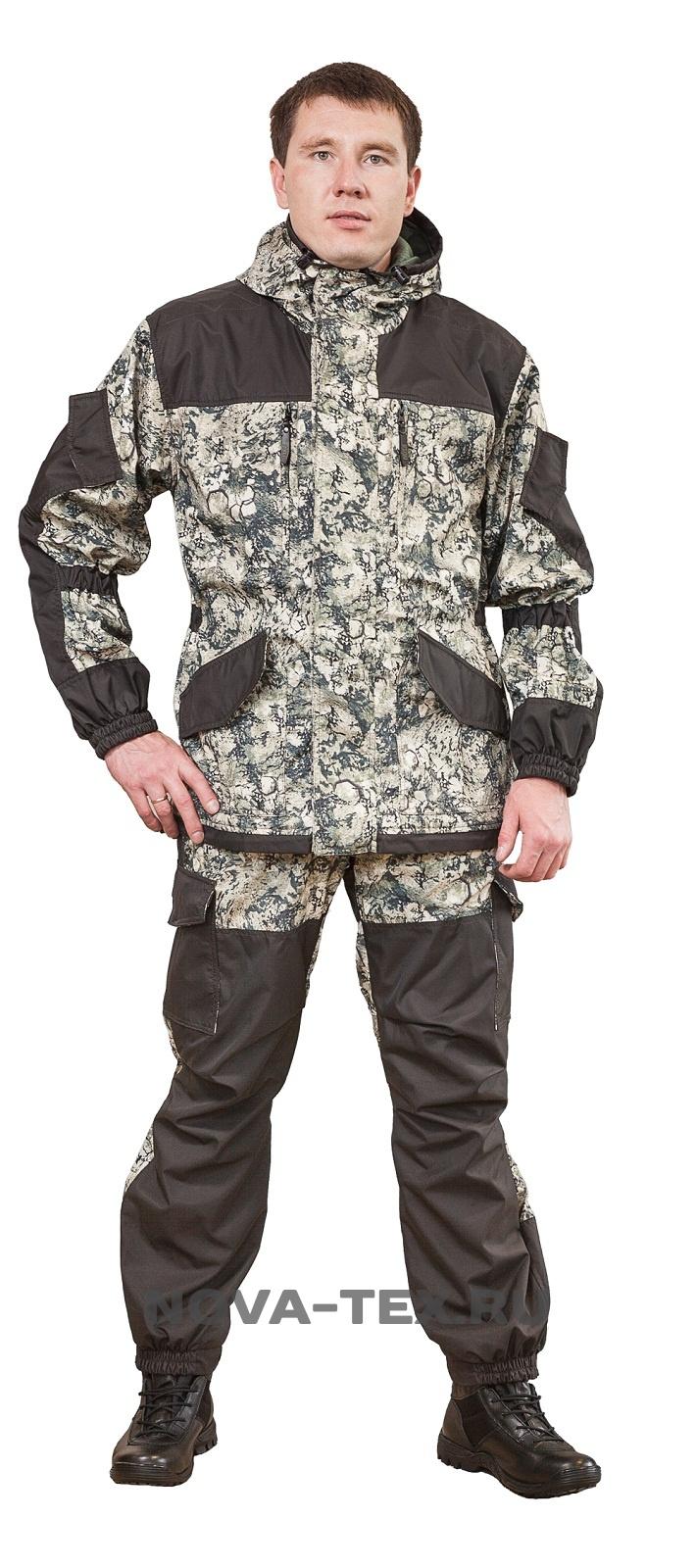 Костюм мужской Горка Осень-Дуплекс (060-3), Костюмы утепленные<br>Костюм «Горка Осень» ( ТМ «Payer») - разработан <br>в компании Novatex на основе легендарного костюма <br>«Горка», используемого в спецподразделениях, <br>а также огромным числом любителей всевозможного <br>экстрима. Костюм «Горка Осень» состоит <br>из куртки и брюк на подтяжках. Отличается <br>специальным анатомическим кроем, характерным <br>для данной линии одежды. Он не стесняет <br>движений, дает свободу перемещения в условиях <br>пересеченной местности. Верхний слой изготовлен <br>из современной ткани «Дуплекс», обладающей <br>отличными ветрозащитными свойствами, подкладка <br>из мягкого гипоаллергенного флиса обеспечивает <br>комфорт и тепло. Места повышенного износа <br>имеют дополнительное усиление мембранной <br>тканью «кошачий глаз», которая не пропускает <br>влагу снаружи, отводит ее изнутри и обладает <br>повышенной износостойкостью. Рекомендован <br>для военных, охотников, рыбаков, туристов, <br>любителей военно-спортивных игр, представителей <br>силовых структур. Особенности модели: -ветрозащитная <br>ткань -двойная ветрозащитная планка -анатомический <br>крой -двухзамко<br><br>Пол: мужской<br>Размер: 48-50<br>Рост: 182-188<br>Сезон: демисезонный<br>Цвет: серый<br>Материал: текстиль