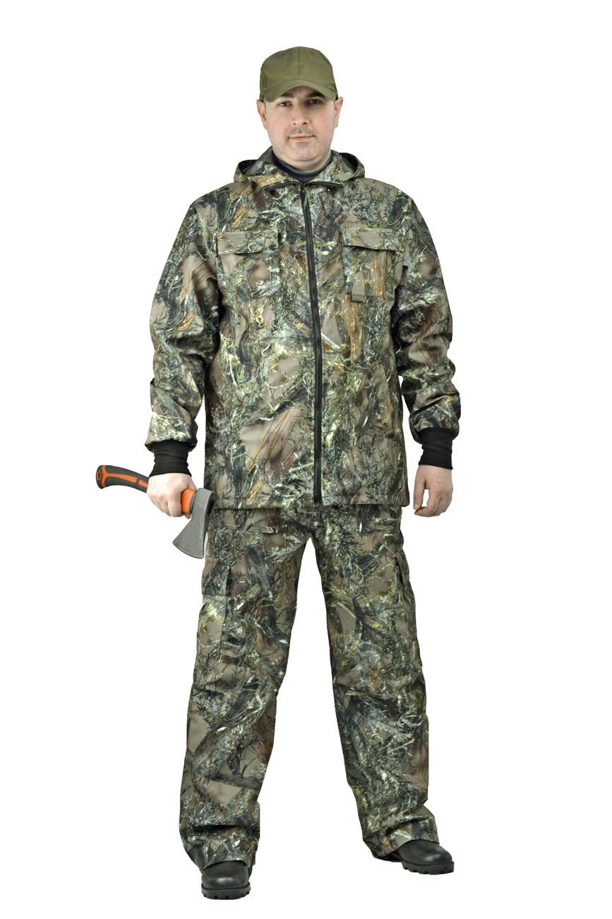 Костюм мужской Тройка демисезонный кмф Костюмы утепленные<br>Костюм состоит из куртки, брюк и жилета <br>Жилет утепленный: * воротник стойка * центральная <br>застежка на молнию * нагрудные объемные <br>накладные карманы с застежкой липучку * <br>нижние многофункциональные накладные объемные <br>карманы на молнии и липучке * внутренний <br>карман для документов Куртка с капюшоном <br>на подкладке из сетки: * центральная застежка <br>молнию * притачной капюшон с регулировкой <br>объема по лицевому вырезу * низ куртки регулируется <br>по объему эластичным шнуром * рукава с трикотажными <br>манжетами * нагрудные накладные объемные <br>карманы с клапанами на липучке * нижние <br>прорезные карманы с листочкой Брюки на <br>подкладке из сетки: * пояс с эластичной лентой <br>со шлевками под широкий ремень * защипы <br>в области коленей обеспечивают свободу <br>движения * боковые накладные объемные карманы <br>с клапанами на кнопках<br><br>Пол: мужской<br>Размер: 44-46<br>Рост: 170-176<br>Сезон: демисезонный<br>Цвет: зеленый<br>Материал: Алова 100% полиэстер