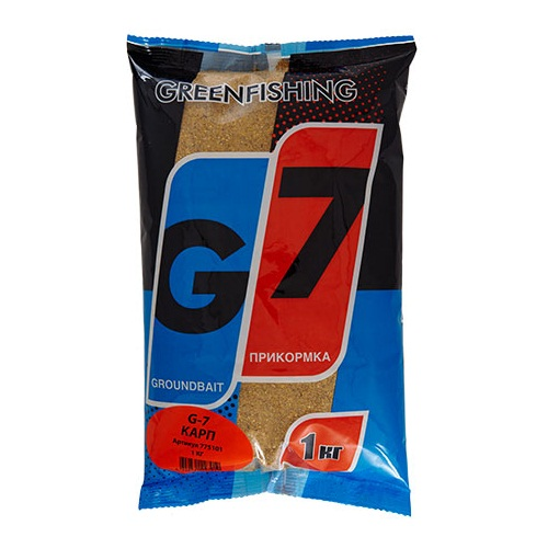 Прикормка Gf G-7 Карп 1КгПрикормки<br>Прикормка GF G-7 КАРП 1кг пакет 1кг/ароматика:специальная/цвет:светлый/кратн. <br>короба 16шт. «G-7» - Новая линия недорогих <br>и качественных ароматизированных прикормов, <br>имеет сбалансированный состав, отличную <br>ароматизацию и самые популярные у рыболовов <br>ароматы. Идеально подходит для использования <br>на не запрессованных водоемах, где не имеет <br>смысла переплачивать за дорогие добавки <br>и ингредиенты. Рекомендуется использовать <br>как отличное дополнение к «старшим» сериям, <br>таким как GF, Salapin, Prime и Energy.<br><br>Сезон: лето