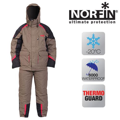 Костюм Зимний Norfin Thermal Guard NewКостюмы утепленные<br>Костюм зим. Norfin THERMAL GUARD NEW 01 р.S разм.S/куртка <br>и штаны/мат.нейлон/Утепл. THERMO GUARD (мат.полиэстер) <br>Зимний костюм из ветро- и водонепроницаемой <br>ткани. Предназначен для эксплуатации при <br>температуре до-20°C. КУРТКА: Проклеенные <br>швы; Капюшон крепится на замке-молнии; Капюшон <br>со стягивающимся фиксатором и козырьком; <br>Один внутренний карман; Один нагрудный <br>карман; Два объемных накладных кармана; <br>Фиксатор, стягивающий низ куртки; Эластичные <br>удлиненные манжеты; ПОЛУКОМБИНЕЗОН: Завышенная <br>задняя часть талии; Эластичный пояс; Удобные, <br>регулируемые лямки; Боковые застежки-молнии <br>с клапанами позволяют снять штаны, не снимая <br>обуви. Материал: НЕЙЛОН с ПВХ покрытием. <br>Утеплитель: THERMO GUARD (100% полиэстер). Подкладка: <br>НЕЙЛОН.<br><br>Пол: мужской<br>Размер: S<br>Сезон: зима<br>Цвет: бежевый