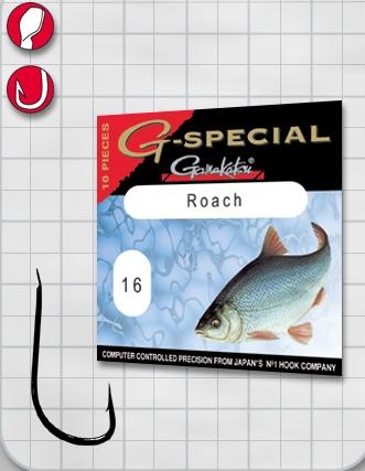 Крючок GAMAKATSU G-Special Roach B №18 (10шт.)Одноподдевные<br>Универсальный крючок для ловли плотвы.<br>
