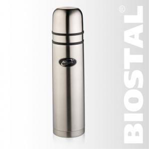 Термос Biostal NB-1000K2 ( у/г с двумя чашками)Термосы<br>Легкий и прочный Сохраняет напитки горячими <br>или холодными долгое время Изготовлен из <br>высококачественной нержавеющей стали С <br>двумя крышками-чашками Гарантия на термос <br>1 год. Характеристики: Артикул: NB-1000К2 Объем: <br>1,0 литра Высота: 33,5 см Диаметр: 8,5 см Вес: <br>620 г Размеры упаковки: 9х9х34,2 см Термос с <br>узким горлом NВ-1000К2 ТМ «BIOSTAL» относится <br>к классической серии. Термосы этой серии, <br>являющейся лидером продаж, просты в использовании, <br>экономичны и многофункциональны. Термос <br>предназначен для хранения горячих и холодных <br>напитков (чая, кофе и пр.) и укомплектован <br>двумя крышками-чашками.<br>
