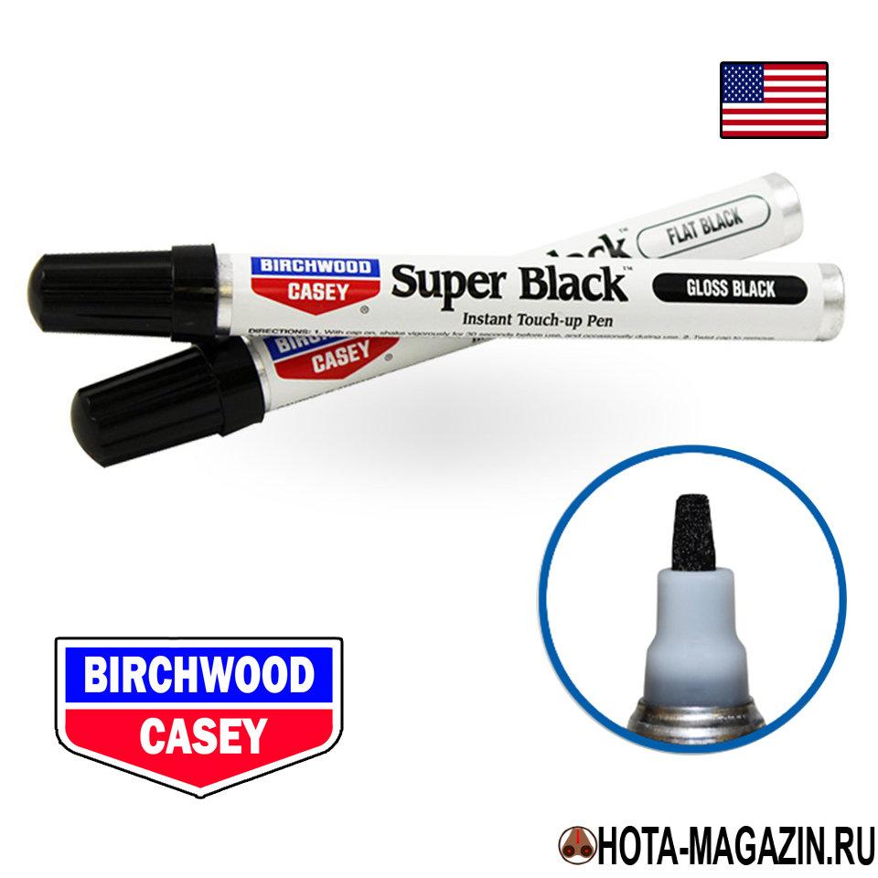 Карандаш для воронения Birchwood-Casey Super Black Средства для чистки оружия<br>Простой и эффективный способ для мелких <br>работ со щелями, царапинами и потертыми <br>областями черного анодированного металла, <br>алюминия или поверхностями, имеющими черный <br>цвет. Карандаш содержит быстросохнущее, <br>не содержащее свинца красящее вещество <br>с высокими адгезивными и прочностными характеристиками, <br>которое помогает проникнуть в оцарапанные <br>и потертые места. Специальная формула предназначена <br>для получения отличной полировки и матированной <br>отделки оружейного ресивера, спускового <br>крючка, прицела, биноклей, камер, вспышек, <br>рыболовных катушек и других спортивных <br>аксессуаров. Используйте как маркер, просто <br>потрите необходимое место фетровым наконечником. <br>Цвет - черный глянцевый. Объем содержимого <br>10 мл. 15111 - черный глянец (старый артикул <br>15101) 15112 - черный матовый (старый артикул <br>15102)<br>