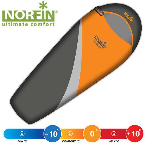 Мешок-Кокон Спальный Norfin Scandic 350 Ns LСпальники<br>Модель подходит для любой поры года. Хорошо <br>подойдет для походов, активного отдыха <br>весной, летом, осенью. Форма кокон прекрасно <br>сберегает тепло. Особенности: - форма кокон; <br>- молния слева; - температура максимальная <br>+10°C; - температура комфортная 0°C; - температура <br>экстремальная -10°C; - длина 220 см; - ширина <br>80-55 см; - размер в сложенном виде 24x37 см; - <br>материал внутренний Polyester 190T.<br><br>Сезон: лето<br>Цвет: оранжевый