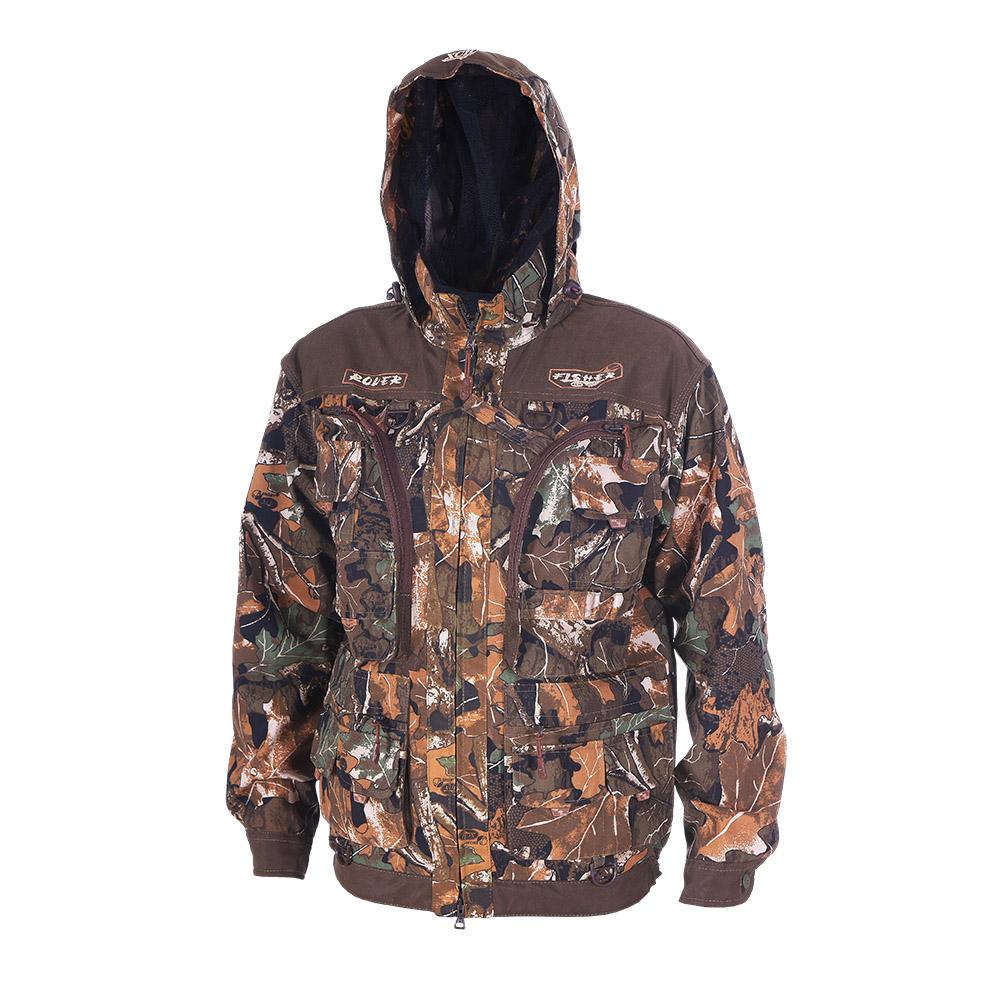 Куртка ХСН «Ровер-рыбак» (9791-1) (Дубок, 62 Куртки неутепленные<br>Идеально подойдет любителям рыбалки и <br>активного отдыха. Куртка изготовлена из <br>специального материала с содержанием хлопка, <br>который не шуршит при движении. Ткань обработана <br>водоотталкивающей тефлоновой пропиткой <br>для защиты от влаги. Особенности: - регулируемый <br>несъемный капюшон с противомоскитной сеткой; <br>- 10 шт. объемных карманов, в том числе под <br>рыболовные коробки; - особый крой рукавов, <br>обеспечивающий свободу движения; - манжеты <br>на пуговицах с возможностью регулировки <br>ширины; - специальная усиленная ткань на <br>плечах; - двойной джинсовый запошивочный <br>шов.<br><br>Пол: мужской<br>Размер: 62 - 64 / 188<br>Сезон: лето<br>Цвет: камуфляжный<br>Материал: Хлопкополиэфирная ткань