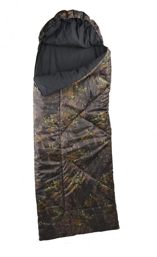 Мешок спальный Тур-камоСпальники<br>Классический спальный мешок типа Одеяло <br>с капюшоном. Молния позволяет полностью <br>раскрыть мешок. Рекомендован для использования <br>в летнее и межсезонное время года. Ширина/высота: <br>74/215 см. Ткань верха/подкладка: оксфорд камуфлированный/бязь <br>142г/м черная. Утеплитель: синтетический <br>Bio-tex. Высококачественный утеплитель bio-tex <br>из полого сильно извитого силиконизированного <br>волокна, 100% полиэстр. Спиральная форма волокна <br>и силикон позволяет сохранять свою форму <br>и легко восстанавливать ее после сжатия <br>и стирки. Уникальная структура термофиксированного <br>нетканного утеплителя bio-tex обеспечивают <br>высокие потребительские качества. Надежно <br>сохраняет тепло, не впитывает влагу. Прекрасно <br>поддерживает микроклимат человека, пропускает <br>воздух. Не вызывает аллергии, не впитывает <br>запахи, идеален для людей, страдающих бронхиальной <br>астмой. Изделия с утеплителем bio-tex легко <br>стираются в теплой воде и быстро сохнут <br>при комнатной температуре. Температура <br>комфорт/экстрим: +5/+15 С.<br><br>Сезон: демисезонный