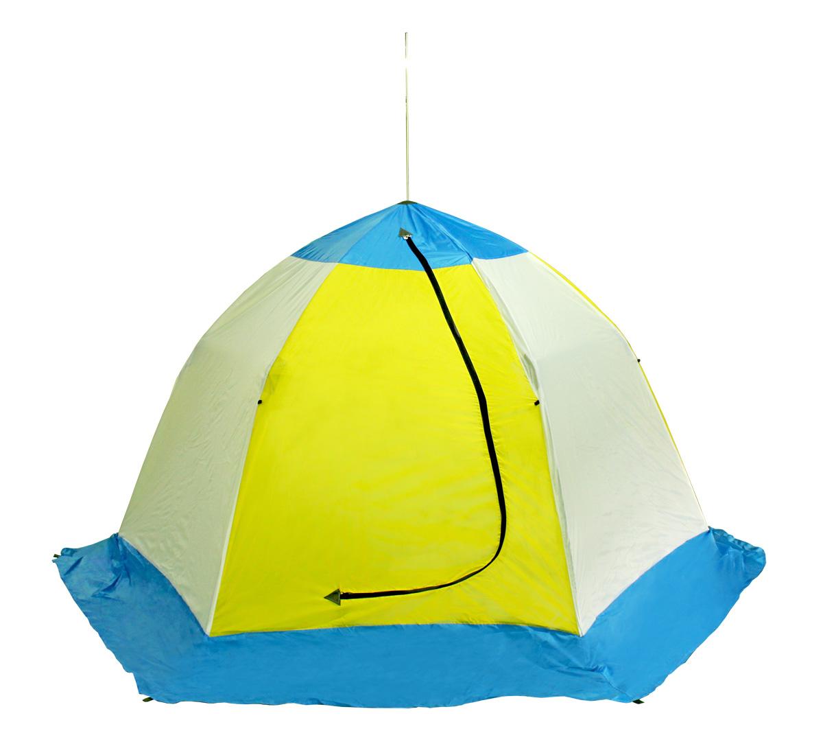 Палатка рыбака ELITE 3-м п/автомат н/тк (Стэк)Палатки зимние<br>Предназначена для зимнего подледного лова. <br>Изготовлена из высокопрочного алюминиево-дюралевого <br>каркаса, алюминиевой комплектации и синтетической <br>непродуваемой ткани (Оксфорд 210 PU). Удлиненная <br>юбка (по низу увеличена на 25 см) Габариты <br>в собранном виде: 11500х200 мм Вес: 5.0 кг. Габариты <br>в разобранном виде: высота - 1600 мм, диаметр <br>(по диагонали, по низу) - 2600 мм.<br>
