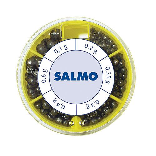 Грузила Salmo Дробинка Pl 6 Секций Крупные Грузила наборы<br>Грузила Salmo ДРОБИНКА PL 6 секц. крупн. 050г <br>набор 6 сек./0,2/0,25/0,3/0,4/0,6/1,0/вес 50г Набор грузил <br>в форме дробинок с прорезью для крепления <br>на леске. В комплекте 6 размеров. Каждый <br>размер грузил размещен в отдельное отделение <br>пластиковой коробочки. Предназначаются <br>для широкого применения в оснастках для <br>поплавочной ловли.<br><br>Сезон: Летний