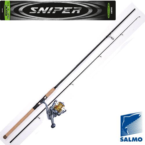 Спиннинг-Комплект Salmo Sniper Spin Set 2.10Спинниги<br>Спиннинг-комплект Sniper SPIN SET 2.11 дл.2.10м/тест <br>10-30г/строй MF/кл.M/158г/2ч./дл.тр.110см Универсальный <br>спиннинг средне-быстрого строя для ловли <br>на различные приманки, изготовленный из <br>композита. Бланк спиннинга укомплектован <br>облегченными кольцами на высоких ножках <br>со вставками SIC и элегантной рукояткой с <br>пробковым покрытием и облегченным буфером <br>на торце. Соединение колен спиннинга по <br>типу OVER STEEK. Все спиннинги имеют одинаковый <br>тест 10-30 г. Универсальная среднескоростная <br>катушка среднего класса. • Тормоз фрикционный <br>передний (многодисковый) FD • Тормоз фрикционный <br>задний (многодисковый) RD • 4 подшипника <br>шариковых • 1 подшипник роликовый • Мгновенный <br>стопор обратного хода (антиреверс) • Включатель <br>антиреверса флажковый нижний • Качественный <br>механизм привода: латунь – алюминий • Корпус <br>карбопластовый • Шпуля основная алюминиевая <br>• Шпуля дополнительная пластиковая (графитовая) <br>• Ролик лесоукладывателя конусный увеличенный <br>(противозакручиватель) • Покрытие износостойкое <br>нитридом титана: – ролика • Р<br><br>Сезон: лето