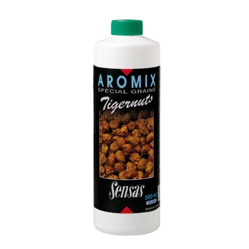 Ароматизатор Sensas Aromix Tiger Slim 0.5ЛАроматизаторы<br>Ароматизатор Sensas AROMIX Tiger Slim 0.5л тигровый <br>орех/ 10-25% от используемой воды/0,5л/ в уп 10шт <br>AROMIX – жидкие ароматизаторы, которые добавляется <br>непосредственно в воду, для замешивания <br>прикормочной смеси, это позволит пропитать <br>каждую ее частичку. Также они обладают некоторыми <br>связующими свойс<br><br>Сезон: лето