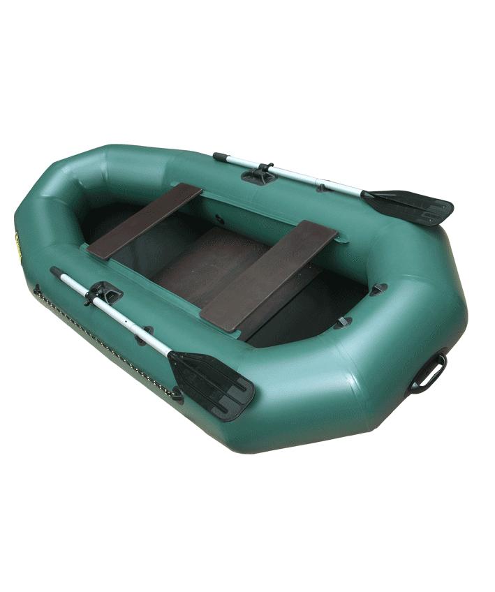 Лодка ПВХ Компакт-265 гребная (С-Пб) (цвет Лодки гребные<br>Гребная надувная лодка Компакт 265 —лодка <br>рассчитана на одного или двух пассажиров. <br>Оптимальное соотношение длины и ширины <br>лодки и диаметра борта делают эту модель <br>самой устойчивой и популярной. Высокое <br>давление в баллонах (0,25 bar) дает возможность <br>устанавливать на ее корму съемный подвесной <br>транец и глиссировать со скоростью 15-20 км <br>в час с мотором 3 5 л.с. Крепление под навесной <br>транец вклеено заводом-производителем, <br>что гарантирует его надежность и правильность <br>эксплуатации мотора. Жесткое вставное дно, <br>состоящее из 2 частей влагостойкой ламинированной <br>фанеры с противоскользящим покрыкием, позволяет <br>пассажирам устойчиво держаться на ногах <br>стоя в лодке. Удобно упаковывается в специальную <br>сумку-рюкзак. - Лодка «Компакт» состоит <br>из одного замкнутого баллона, разделенного <br>перегородками на 2 отсека, что позволит <br>лодке остаться на плаву даже при случайном <br>проколе баллона. - Корпус лодки «Компакт» <br>изготавливается из 5-ти слойной ткани ПВХ <br>корейского производства MIRASOL, являющейся <br>одной из лучших на рынке. Используется ткань <br>плотностью 750 г/м.кв. Реальный срок службы <br>лодки из ПВХ составляет больше 15 лет. За <br>счёт материала лодка подходит для эксплуатации <br>в различных условиях — в тихих закрытых <br>водоёмах, на волне или порожистых реках, <br>среди коряг и камышей. Лодки из ПВХ не требуют <br>специальной обработки после использования <br>и на период хранения. - швы лодки соединены <br>современным методом «горячей сварки». Ткань <br>соединяется встык, с проклейкой с двух <br>сторон лентами из основного материала шириной <br>4 см на специальной машине. Для склейки применяется <br>клей на полиуретановой основе, который, <br>вступая в химический контакт с материалом <br>склеиваемых поверхностей, соединяется <br>с тканью на молекулярном уровне и получается <br>единое полотно. - раскрой материала для <br>ло