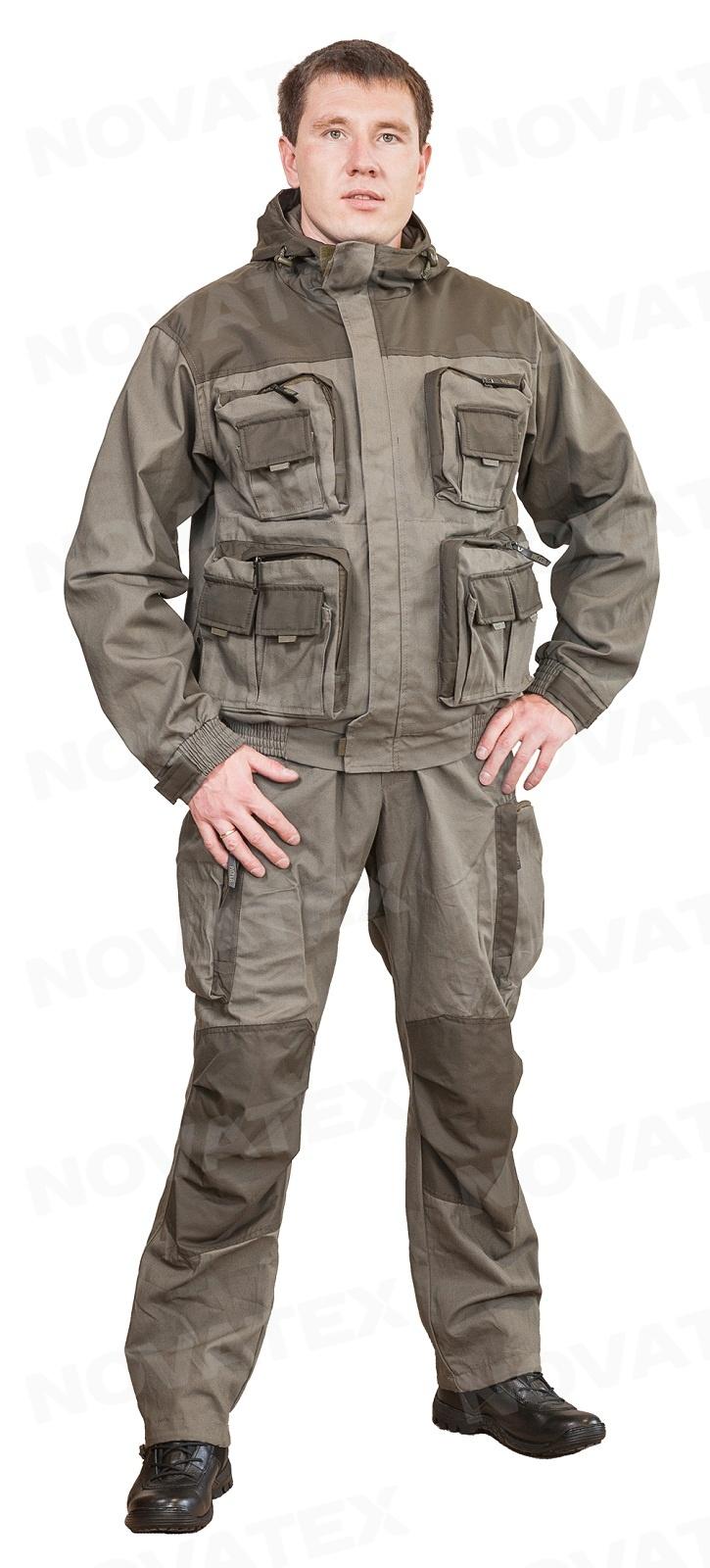 Костюм «Пайер» (канвас, т.хаки ) PAYER (44-46 рост Костюмы утепленные<br>Костюм Payer (тм Payer) от Novatex – практичный и <br>надежный костюм для отдыха на природе, охоты <br>и рыбалки. Костюм Пайер проектировался <br>как ответ на запросы клиентов на качественный <br>универсальный костюм. Состоит костюм из <br>укороченной куртки и полукомбинезона. Анатомический <br>крой позволяет легко и свободно двигаться. <br>Куртка, благодаря обработке на поясной <br>машинке, плотно прилегает по бедрам, не <br>пропуская ни мошку, ни ветер. Бретели <br>позволяют отрегулировать полукомбинезон <br>по фигуре. В более теплую погоду спинку <br>полукомбинезона можно отстегнуть. В костюме <br>Payer можно разместить по карманам все необходимые <br>мелочи: семнадцать карманов, в том числе <br>шесть объемных и один внутренний для документов. <br>Костюм изготавливается из надежных, проверенных <br>временем хлопковых тканей: палатка и канвас. <br>Эти 100% натуральные ткани прекрасно защищают <br>от ветра, почти мгновенно сохнут, пропускают <br>воздух (позволяя телу «дышать»). Подкладка <br>из мягкого гипоаллергенного флиса обеспечивает <br>комфорт и тепло. Места повышенного износа <br>имеют дополнительное усиление мембранной <br>тканью «Кошачий глаз», которая не пропускает <br>влагу снаружи, отводит ее изнутри и обладает <br>повышенной износостойкостью. Рекомендован <br>для туристов, охотников, рыбаков и всех <br>любителей активного отдыха в осенне-весенний <br>и летний период.<br><br>Пол: мужской<br>Размер: 44-46<br>Рост: 170-176<br>Сезон: демисезонный<br>Цвет: оливковый