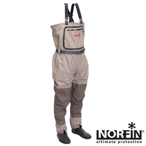 Полукомбинезон Забродный Norfin (XS, 91241-XS)Полукомбинезоны рыбацкие<br>Полукомбинезон забродный Norfin, мат.нейлон <br>с PU, неопрен/Водонепрон. 20000 мм/дышащ.способ. <br>4000 г на кв. м за 24 часа Забродный полукомбинезон <br>изготовлен из высококачественного трехслойного <br>«дышащего» материала изготовленного в <br>Тайване. - Внешний нагрудный карман с водонепроницаемой <br>молнией-застежкой. - Внутренний сетчатый <br>карман - Регулируемые эластичные лямки <br>- Регулируемый эластичный пояс - Неопреновые <br>носки, скроенные под правую и левую ноги <br>- Усиление ткани внизу, на коленях - Ремонтный <br>комплект<br><br>Пол: мужской<br>Размер: XS<br>Сезон: лето<br>Цвет: бежевый