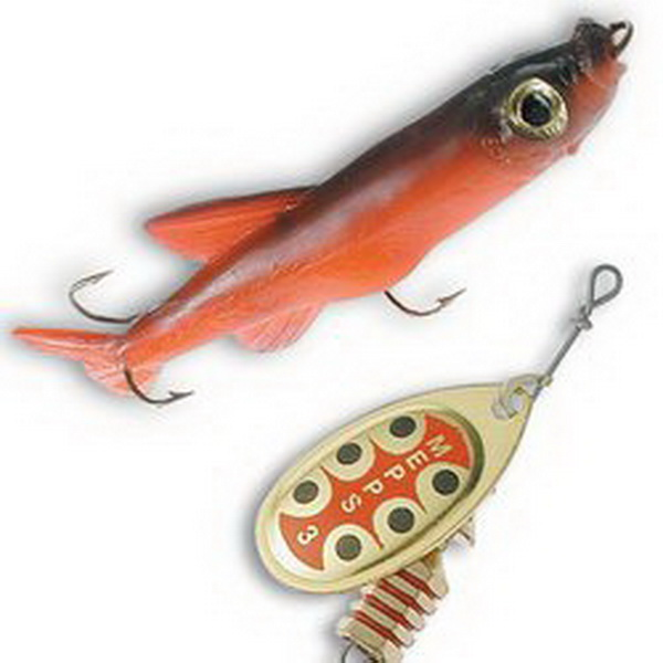 Оснастка для блесны Mepps Mino Red Красный 0Блесны<br>Оснастка для блесны, укомплектованной <br>пластиковой рыбкой, правдоподобно имитирующей <br>настоящую рыбку. Данное приспособление <br>во много раз увеличивает уловистость приманки.<br>