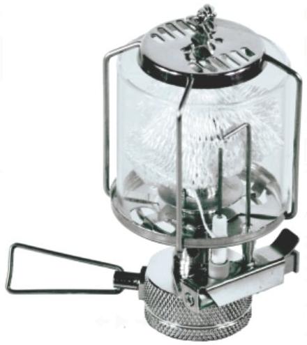 Лампа газовая СЛЕДОПЫТ Светлячок, стекл.Светильники<br>Легкая и компактная газовая лампа с пьезоэлектрическим <br>розжигом. Идеально подходит для освещения <br>палатки или открытого лагерного пространства <br>площадью до 9 кв. м. Колба лампы изготовлена <br>из жаропрочного стекла толщиной 2 мм. В походном <br>положении лампа размещается в компактном <br>пластиковом кейсе, который защищает лампу <br>от повреждений при транспортировке и хранении. <br>Для питания лампы вы можете использовать <br>газовые смеси в баллонах с резьбовым клапаном <br>(FG-230 и FG-450), а также смеси в цанговых баллонах <br>(FG-220) через переходник PF-GSA-01 ХАРАКТЕРИСТИКИ: <br>Мощность лампы: 1,5 кВт. Вес лампы: 152 гр. Размер <br>лампы в походном положении: 60х 60 х 110 мм. <br>Материал колбы: термостойкое стекло Пьезоэлектрический <br>розжиг:<br>