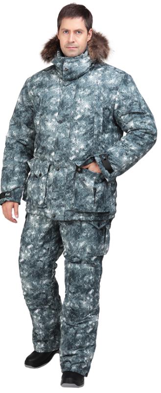 Костюм Sobol КАБАРГА утеплённый, серый (56-58, Костюмы утепленные<br>Подойдет любителям рыбалки и активного <br>отдыха зимой, а также для катания на снегоходе. <br>Защищает от пониженных температур воздуха <br>до 40С. В комплект входит куртка и полукомбинезон. <br>КУРТКА: - застегивается на молнию с ветрозащитным <br>клапаном; - съемный капюшон с меховой опушкой; <br>- нагрудные карманы с застежкой на молнию; <br>- нижние накладные карманы; - внутренний <br>карман под документы; - регулировка объема <br>по талии; - трикотажные манжеты; - сигнальная <br>вставка на рукаве; - ветрозащитная юбка. <br>БРЮКИ: - высокий пояс; - застежка - гульф на <br>тесьму-молнию; - отстегивающаяся спинка; <br>- боковые и задние карманы; - усиленные вставки <br>в области коленей; - молния внизу штанин.<br><br>Пол: мужской<br>Размер: 56-58<br>Рост: 170-176<br>Сезон: зима<br>Цвет: серый<br>Материал: LOKKER LINE, пл. 135 г/м?
