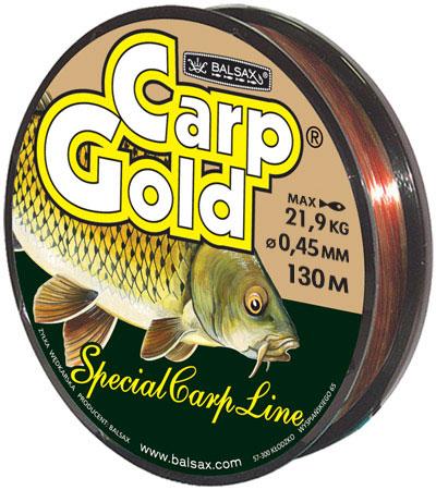 Леска BALSAX Gold Carp 130м 0,45 (21,9кг)Леска монофильная<br>Леска Gold Carp - это чувствительная леска <br>для крупной рыбы. Отличная сопротивляемость <br>разрыву и контролируемая растяжимость. <br>Точно подобранный цвет медово-желтый незаменим <br>при ловле карпа.<br><br>Сезон: лето