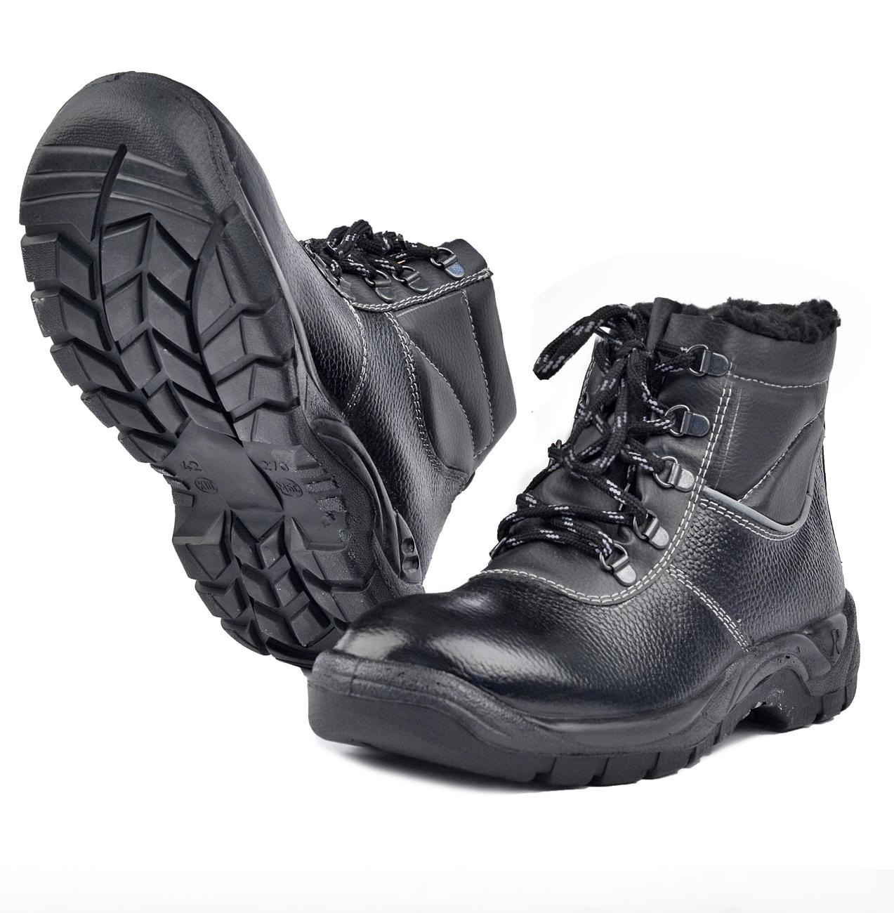Ботинки ПУ/НИТРИЛ на искусственном меху Ботинки универсальные и рабочие<br>Отличная универсальные ботинки, подходят <br>для различных отраслей промышленности. <br>Глухой клапан препятствует попаданию производственной <br>пыли, грязи и воды. Форма мягкого канта повторяет <br>контур ноги и надежно фиксирует её. Подошва <br>выдерживает высокий температурный режим, <br>не более 300С, не замерзает и не дубеет на <br>морозе.<br><br>Пол: мужской<br>Сезон: зима<br>Цвет: черный