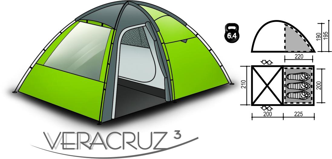 Палатка VERACRUZ 3Палатки<br>Палатка VERACRUZ 3<br><br>Сезон: лето