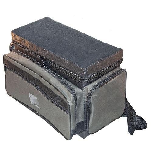 Ящик-Сумка-Рюкзак Рыболовный Зимний Пенопласт Ящики рыболова<br>Ящик-рюкзак рыболов. зим. пенопл. H-1LUX ящик <br>зимний из плотного пенопласта в сумке/1 <br>яр./разм.40х19х35(см) Ящик-сумка-рюкзак зимний <br>рыболовный из плотного авиационного пенопласта.<br><br>Сезон: Зимний