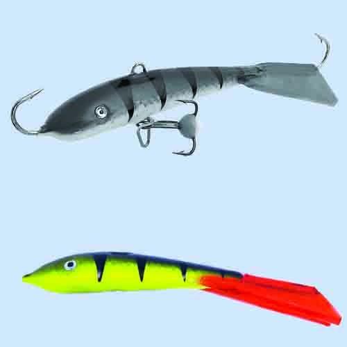 Балансир Lucky John Fin 5 + Тр. 70Мм/31Rt БлистерБалансиры<br>Балансир Lucky John FIN 5 + тр. 70мм/31RT блистер расцв.31RT/р.тр.12/вес <br>20г/инд.уп. Популярный у рыболовов балансир, <br>для ловли крупного окуня, берша, судака <br>и щуки длиной 70 мм. Для ловли судака его <br>с успехом мож но исполь зовать на глубинах <br>до 13 м, если на водоеме нет течения. Для ловли <br>крупного окуня рекомендует- ся использовать <br>монофильную леску диаметром от 0,18 до 0, 25 <br>мм, (для ловли судака и щуки до 0,30 мм) или <br>плетеный шнур 0,11–0,15 мм.<br><br>Сезон: зима