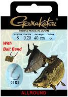 Крючок GAMAKATSU BKS-G1-103 Bait Band 40см №8 d поводка Одноподдевные<br>Оснащенный поводок для ловли на гранулы, <br>длинной 40 см и диаметром сечения 0,20<br>