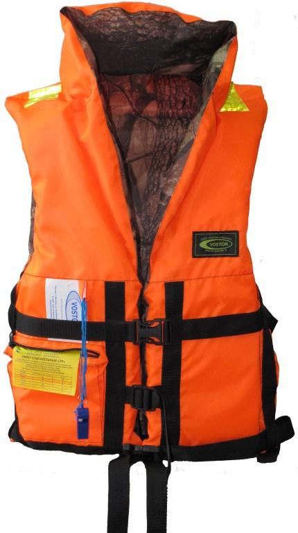 Жилет спасательный VOSTOK ПР двусторонний Спасательные жилеты<br>Спасательный жилет из ткани сигнальной <br>расцветки со светоотражающими полосами <br>(для легкого обнаружения в темноте). Позволяет <br>поддерживать человека на плаву долгое время. <br>Плавающий наполнитель НПЭ. Особенности <br>модели: - воротник стойка; - накладной карман <br>на замке; - свисток для вызова спасателей <br>в тумане и темное -боковые стяжки и паховые <br>ремни позволяют подогнать жилет по фигуре; <br>- хорошая плавучесть; - малый вес. Жилет прошел <br>испытания и имеет сертификат Государственной <br>инспекции по маломерным судам. Ткань: Oksford <br>210 Цвет: ЛЕС/Оранжевый<br>