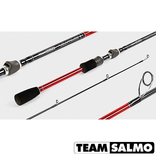 Спиннинг Team Salmo Vantage 18 7.20Спинниги<br>Удилище спин. Team Salmo VANTAGE 18 7.20 дл.7.0ft(2.13)м/тест <br>6-18/строй F/кл. M/вес 116г/2ч./дл.тр.110см./PE6-12lb <br>VANTAGE - самая широкая из новых линеек спиннингов <br>Team Salmo, в которой представлены удилища, основное <br>назначение которых - рывковая проводка <br>приманок. Жёсткий бланк и специально подобранная <br>длина обеспечат правильную анимацию приманок, <br>будь то воблер, колеблющаяся блесна или <br>силиконовая приманка. Эти удилища отлично <br>подойдут и для джиговой ловли с лодки. Спиннинги <br>получились очень чувствительными, а кольца <br>KIGAN с циркониевыми вставками серии ZERO TANGLE <br>GUIDES позволят виртуозно выполнить самую <br>замысловатую твичинговую проводку, не боясь <br>неожиданных перехлёстов даже при использовании <br>тонких плетёных шнуров. Спиннинги оснащены <br>удобной разнесённой рукояткой из материала <br>EVA с катушкодержателем FUJI. Для изготовления <br>бланка использован высокомодульный графит <br>40T HI-modulus Carbon.<br><br>Сезон: лето