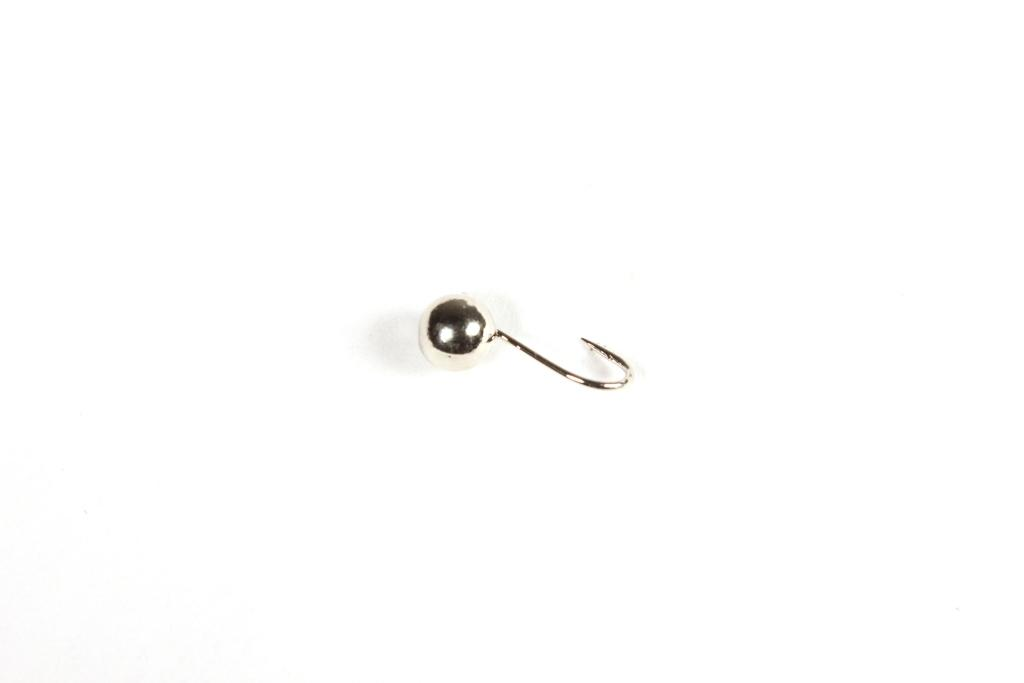 Морм. Вольф.Dixxon-Rus шар с ушком d6, никель Мормышки<br>Мормышка вольфрамовая для подледной ловли. <br>Крючок - FUDO (Япония) Вес - 2,10 г Цвет - никель<br>