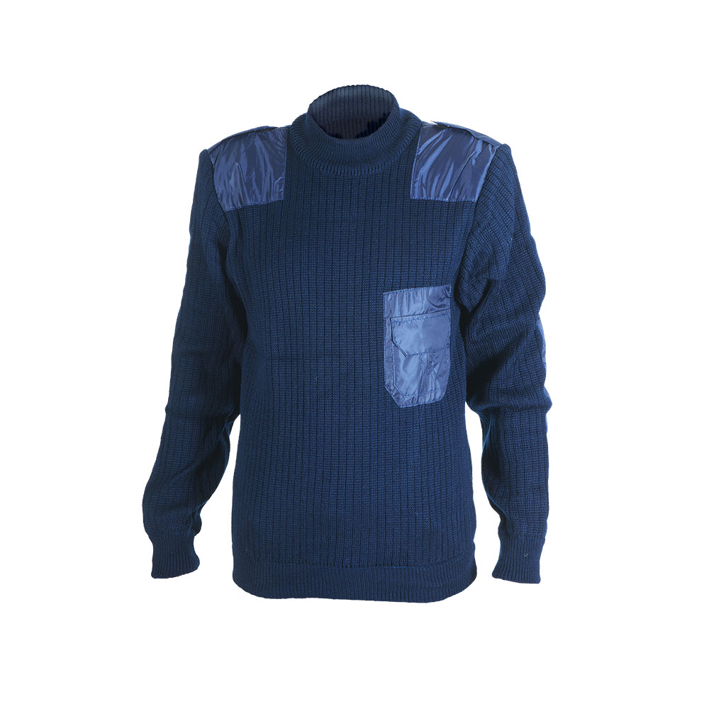 Джемпер ХСН (700-2) (Синий, 52/182, 700-2)Джемпера<br>Джемпер мужской выполнен из пряжи плотным <br>комбинированным переплетением. Изделие <br>хорошо защищает от холода. Особенности: <br>- нашиты тканевые детали: наплечники, погоны <br>и налокотники; - нагрудный карман.<br><br>Пол: мужской<br>Размер: 52/182<br>Цвет: синий<br>Материал: 30% шерсть, 70% синтетика