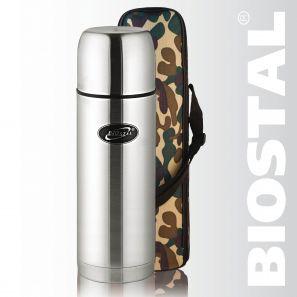 Термос Biostal Охота NBP-1200В 1,2л (узк. горло, Термосы<br>Легкий и прочный Сохраняет напитки горячими <br>или холодными долгое время Изготовлен из <br>высококачественной нержавеющей стали С <br>крышкой-чашкой и чехлом для хранения и переноски <br>термоса С дополнительной теплоизоляцией <br>внутри пробки Характеристики: Артикул: <br>NBP-1200В Объем: 1,2 литра Высота: 32,3 см Диаметр: <br>9 см Вес: 790 грамм Размеры упаковки: 10,1см <br>х 10,1см х 34,5см<br>