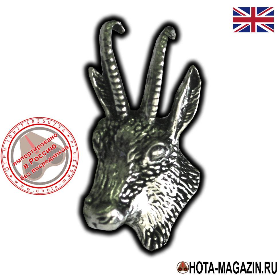 Значок в виде головы горного козла Ибекс Значки с изображением животных<br>Значок в виде головы горного козла Ибекс<br>