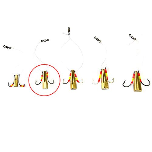 Мормышка Латунная Балда Кембрик №5Мормышки, джиг-головки зимние<br>Мормышка латун. БАЛДА кемб. №5 диам. 5мм/матер. <br>латунь/кр.№7/кол.в уп.10шт Балда – традиционно <br>русская снасточка-приманка предназначенная <br>для ловли рыбы в зимнее время со льда. Уникальность <br>и уловистость данной приманки состоит в <br>том, что ее игра в воде очень схожа с реальными <br>движениями личинки стрекозы. А как известно, <br>личинка стрекозы любимое лакомство таких <br>рыб как окунь, лещ, плотва и др. Соответственно <br>трофеями рыболовов при ловле на «балду» <br>становятся практически все рыбы водоема. <br>Производится данная приманка из полированного <br>латунного прутка диаметром 4, 5, 6, 7 и 8 мм. <br>Ассортимент выражен 5 размерами № 4 (диаметр <br>прутка 4 мм, крючок №8), № 5 (диаметр прутка <br>5 мм, крючок №7), № 6 (диаметр прутка 6 мм, крючок <br>№6), № 7 (диаметр прутка 7 мм, крючок №5), № <br>8 (диаметр прутка 8 мм, крючок №4). Крючки <br>по европейской классификации.На крючках, <br>имитирующих лапки насекомого, применяется <br>подсадка таких игровых акустических элементов <br>как латунный шарик, паетка, кембрик и бисер. <br>Каждое изделие упаковано в пло<br><br>Сезон: Зимний<br>Материал: Латунь