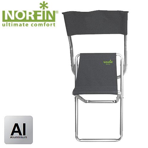 Стул Складной Norfin Ludvika Nf АлюминиевыйСтулья, кресла<br>Такой стул подойдет всякому, кто собирается <br>в поход, экспедицию и просто на природу. <br>Он устойчив даже на рыхлой земле, легко <br>складывается и мало весит. Есть спинка из <br>влагоустойчивого материала. Особенности: <br>- габариты 45,5x37x75 см; - размер в сложенном <br>виде 63x37x5 см; - максимальная нагрузка 100 кг; <br>- каркас алюминий 22 мм.<br><br>Сезон: лето<br>Цвет: серый<br>Материал: 600D polyester