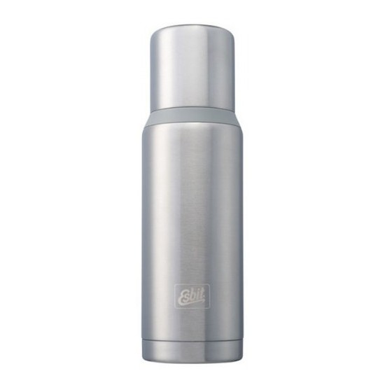 Термос Esbit VFDW, стальной-серый, 1 лТермосы<br>Описание термоса Esbit VF-BS: Новый стальной <br>термос. Стальную крышку с двойными стенками <br>можно использовать как чашку, а также в <br>комплект входит еще одна дополнительная <br>чашка. Высококачественная конструкция <br>термоса сохраняет напитки холодными / горячими <br>длительное время. Особенности: высококачественная <br>нержавеющая сталь прочный чашка из нержавеющей <br>стали с двойными стенками (250 мл) дополнительная <br>чашка (135 мл) сохраняет напитки холодными <br>/ горячими долгое время внутренняя пробка <br>с резьбой Характеристики: При температуре <br>воды ~ 98° C и температуре окружающей среды <br>~ 20° C ± 2° С температура напитка: через 6 ч: <br>~ 85° C через 12 ч: ~ 75° C через 24 ч: ~ 60° C Технические <br>характеристики: Материал: нержавеющая сталь <br>Размер: 295 х ? 90 мм Вес: 589 г Объем: 1000 мл<br>