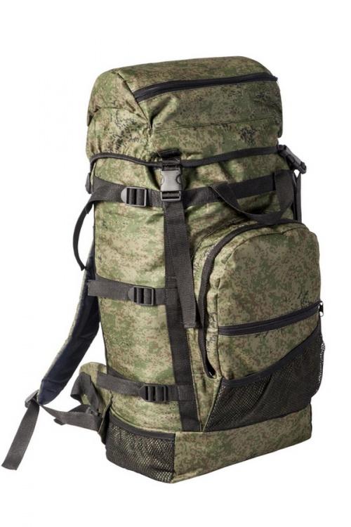 Рюкзак Спутник 60 литров тк.Оксфорд КМФ Рюкзаки<br>Практичный, вместительный и удобный в эксплуатации <br>рюкзак с плавающим верхним клапаном. Сигарообразная <br>форма и широкие анатомические лямки делают <br>рюкзак комфортным в эксплуатации. Съёмный <br>верхний клапан даёт возможность укладки <br>спальника, палатки. Компрессионные боковые <br>стяжки дают возможность крепления коврика, <br>ружья в чехле, удочки Материал: ткань Оксфорд <br>600 D. Технические характеристики •Мягкие <br>регулируемые лямки •Дублированная спинка <br>•Одно большое отделение для снаряжения <br>•Съёмный верхний клапан •Карман на верхнем <br>клапане •Регулировка высоты клапана при <br>помощи строп •Три сетчатых кармана •Компрессионные <br>боковые стяжки •Один объёмный фронтальный <br>карман на молнии •Усилительные стропы <br>•Широкий поясной ремень оптимально распределяет <br>нагрузку в тазобедренной области<br>