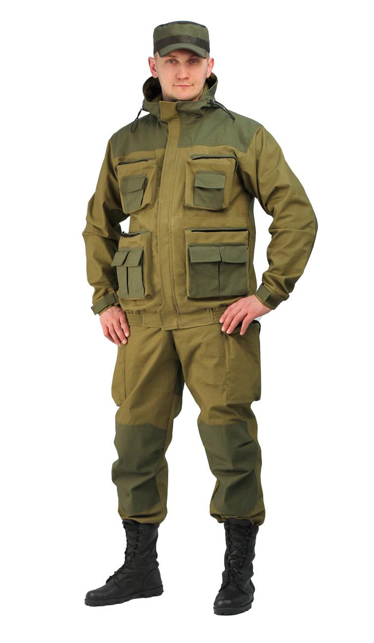 Костюм мужской Gerkon Atak летний т.Палатка Костюмы неутепленные<br>Модельные особенности: – куртка с застежкой-молнией <br>и ветрозащитной планкой на липучках – капюшон <br>с регулировкой по овалу лица и объему –накладные <br>объёмные карманы на молнии<br><br>Пол: мужской<br>Размер: 56-58<br>Рост: 170-176<br>Сезон: лето<br>Материал: «Палаточное полотно» (100% хлопок), пл. 250