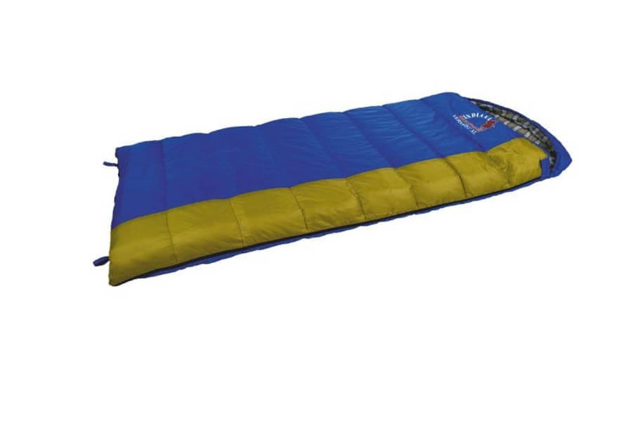 Спальный мешок VERMONT XL R-zip от -8 C (одеяло с Спальники<br>Спальный мешок VERMONT XL R-zip от -8 C (одеяло с <br>подголов 185+35X95 см)<br>Комфортный спальный мешок с подголовником. <br>Увеличенные размеры, возможность состегивания <br>двух спальных мешков с правой и левой молнией, <br>делают спальный мешок Vermont XL оптимальным <br>выбором для отдыха на природе, туризма и <br>кемпинга, в том числе и в холодное время <br>года.<br>Характеристики спального мешка Indiana Vermont <br>XL<br>- Спальный мешок с капюшоном<br>- Возможно состегивание, молния справа<br>- Защита от закусывания молнии<br>- Петли для сушки<br>Экстремальная температура: -8°C<br>Нижняя температура комфорта: +1°C<br>Верхняя температура комфорта: +15°C<br>Материал наружного слоя: полиэстер<br>Материал внутреннего слоя: хлопок<br>Утеплитель: синтетический <br>Вес: 1,83 кг<br>Размер упаковки: 410x250x250 мм<br><br>Сезон: демисезонный