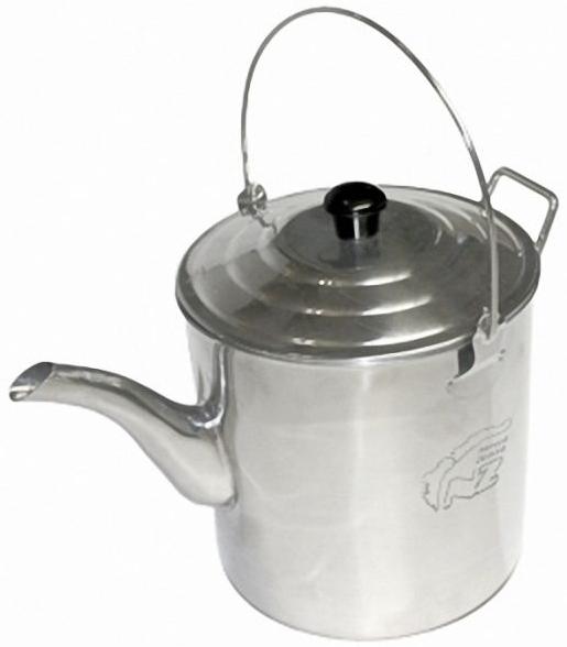 Чайник N.Z. костровой нерж. 3 л.Чайники<br>Чайник большого размера. Вскипяченной <br>за раз воды хватит на 5—6 человек. Уверяю <br>вас, что чай из воды, вскипяченной на костре <br>именно в закопченном чайнике, с дымком — <br>особенно аппетитно пьется. Чайник имеет <br>удобные складные ручки и правильную форму <br>носика для разливания по чашкам. Тонкостенная, <br>пищевая нержавейка, из которой он сделан, <br>обеспечивает достаточную прочность изделия <br>и быстрое закипание воды. Чайник упаковывается <br>в саженепроницаемый удобный, яркий чехол <br>с ручками. Объем мл Вес 660 г. Объем 3,0 литр <br>Габариты 170х170х250 Материал Нержавеющая сталь<br>